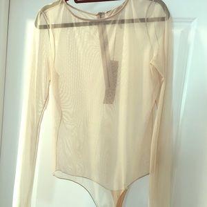 MaxAzria Sheer Tone Bodysuit.